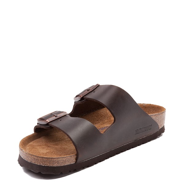 alternate view Mens Birkenstock Arizona Soft Footbed Sandal - Dark BrownALT2