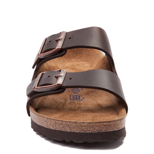 alternate view Mens Birkenstock Arizona Soft Footbed Sandal - Dark BrownALT4