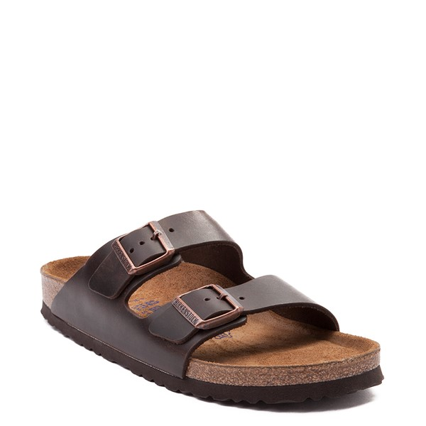 alternate view Mens Birkenstock Arizona Soft Footbed Sandal - Dark BrownALT5