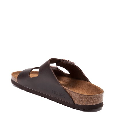 Alternate view of Mens Birkenstock Arizona Soft Footbed Sandal - Dark Brown