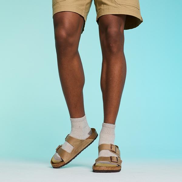 alternate view Mens Birkenstock Arizona Soft Footbed Sandal - TobaccoALT1C