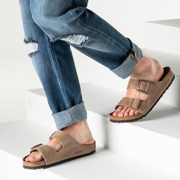 alternate view Mens Birkenstock Arizona Soft Footbed Sandal - TobaccoB-LIFESTYLE1