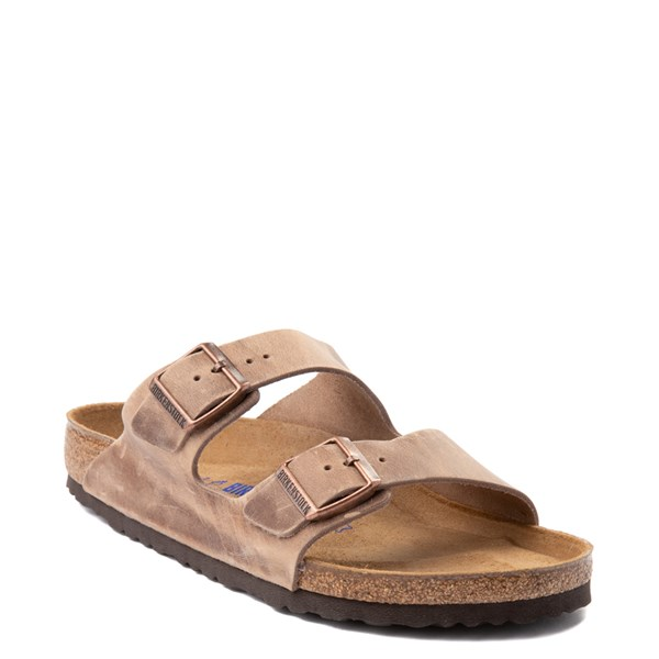 Alternate view of Mens Birkenstock Arizona Soft Footbed Sandal - Tobacco