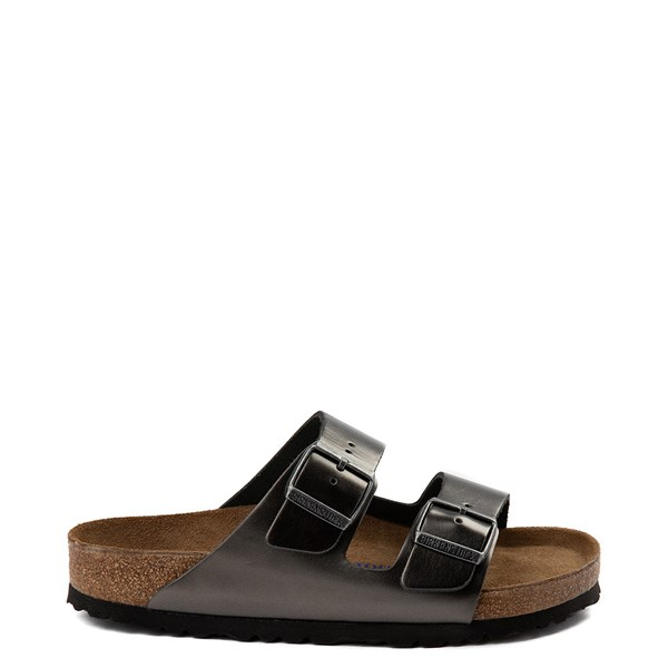 Default view of Womens Birkenstock Arizona Soft Footbed Sandal - Silver