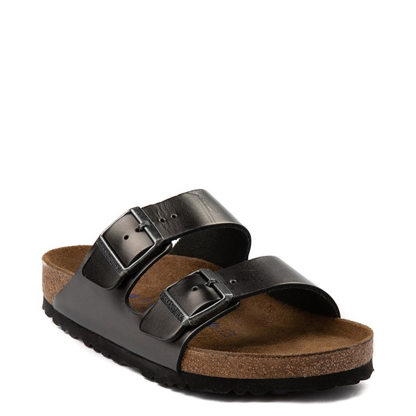 Alternate view of Womens Birkenstock Arizona Soft Footbed Sandal - Silver