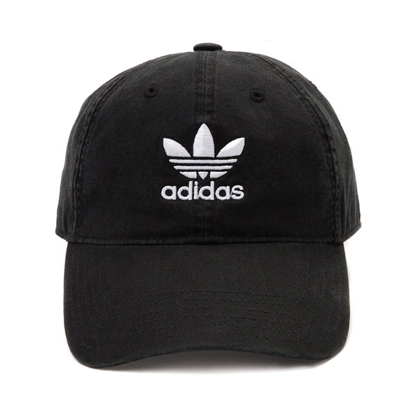 Main view of adidas Trefoil Relaxed Dad Hat - Black / White