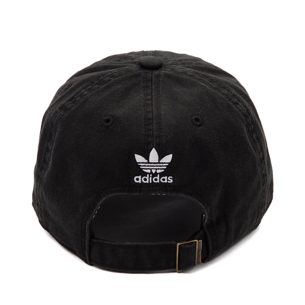 alternate view adidas Trefoil Relaxed Dad Hat - Black / WhiteALT1