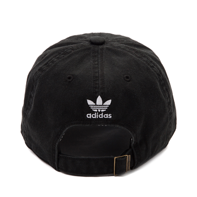 Alternate view of adidas Trefoil Relaxed Dad Hat - Black / White