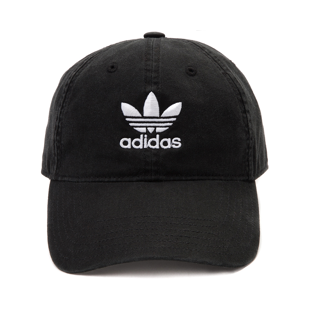 adidas Trefoil Relaxed Dad Hat - Black / White