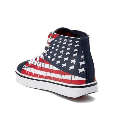 Alternate view of Mens Heelys Hustle Flag Skate Shoe - Red / White / Blue