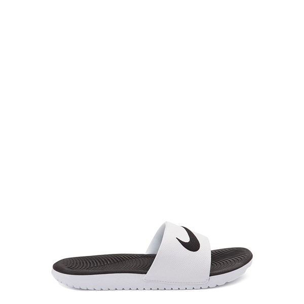 Main view of Nike Kawa Slide Sandal - Little Kid / Big Kid - White / Black