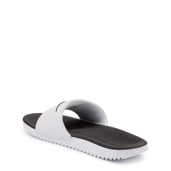 alternate view Nike Kawa Slide Sandal - Little Kid / Big Kid - White / BlackALT2