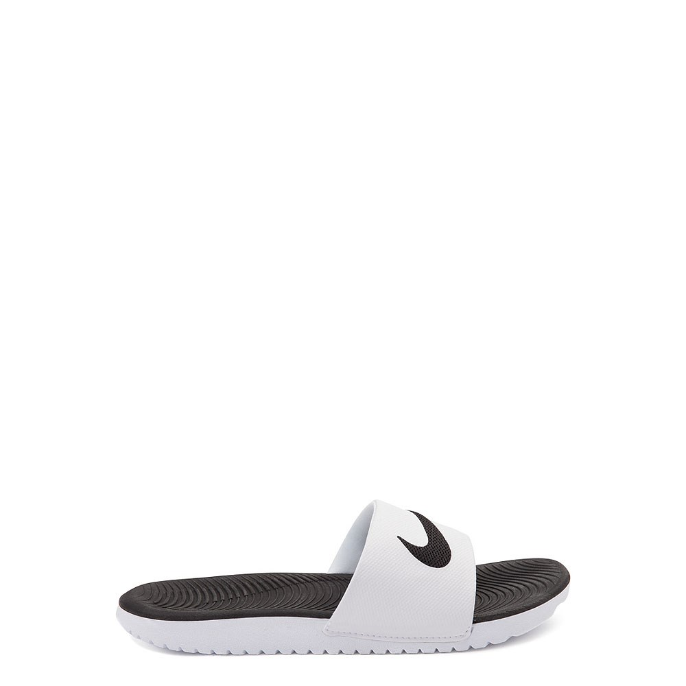 Nike Kawa Slide Sandal - Little Kid / Big Kid - White / Black