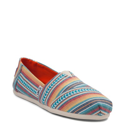 Alternate view of Womens TOMS Classic Multi Blanket Stripe Casual Shoe