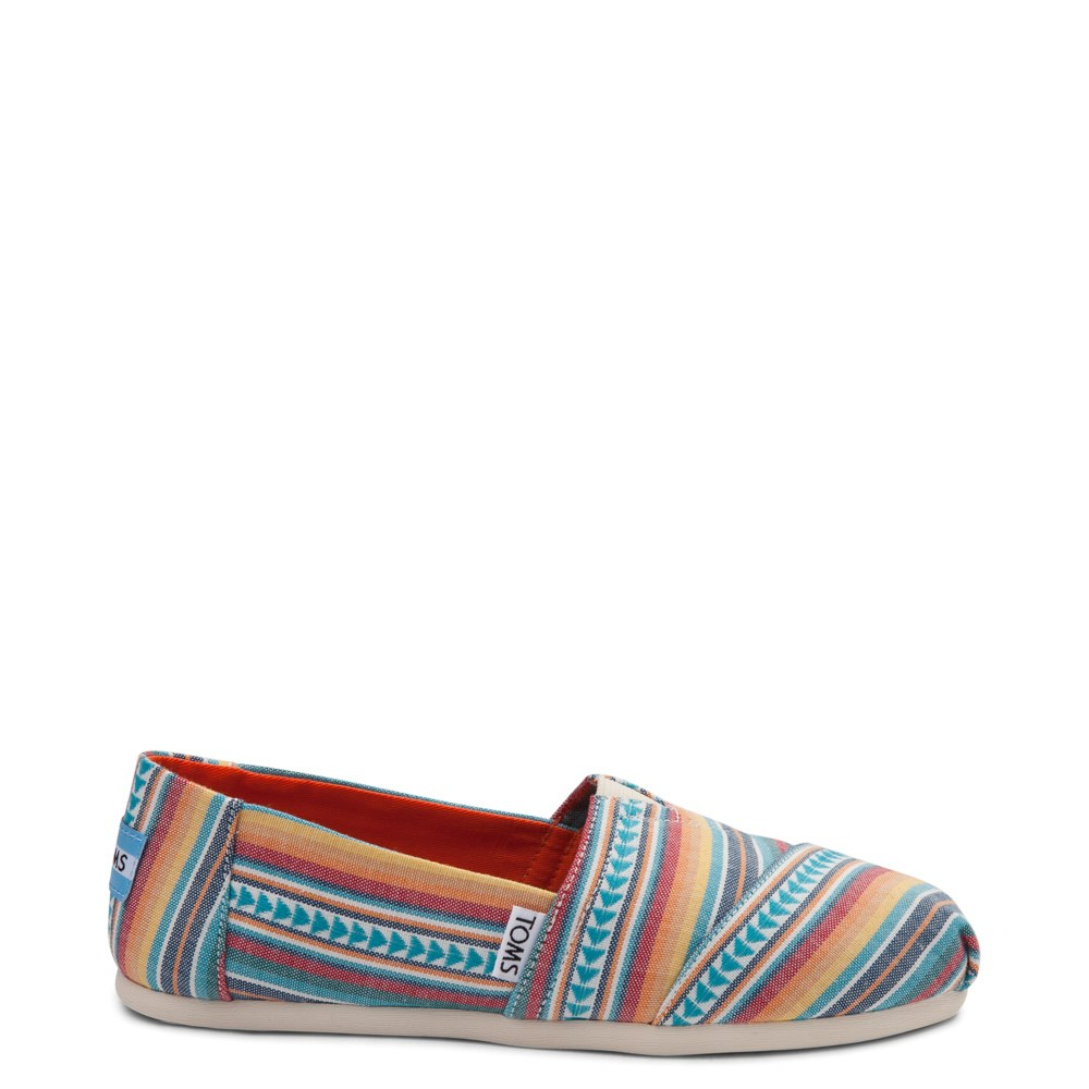 Womens TOMS Classic Multi Blanket Stripe Casual Shoe