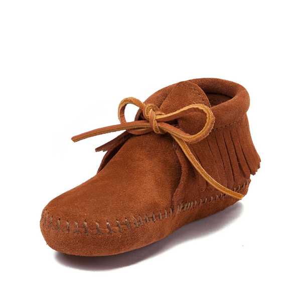 alternate view Minnetonka Classic Fringe Boot - Little Kid - BrownALT2