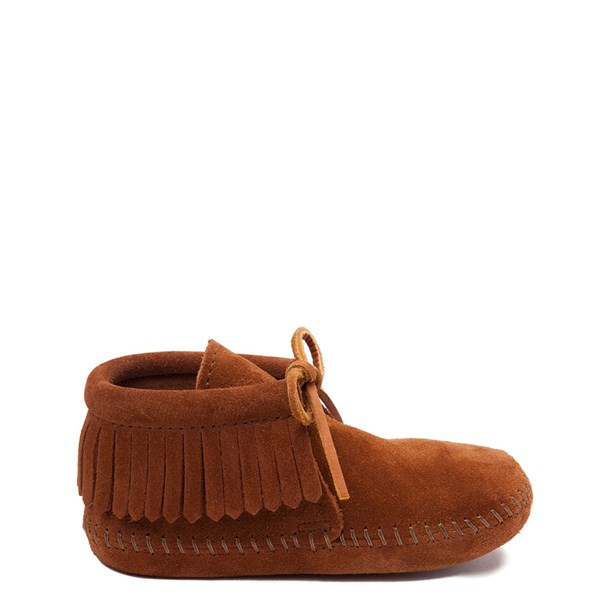 Main view of Minnetonka Classic Fringe Boot - Little Kid - Brown
