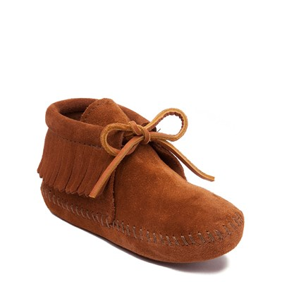 Alternate view of Minnetonka Classic Fringe Boot - Little Kid - Brown