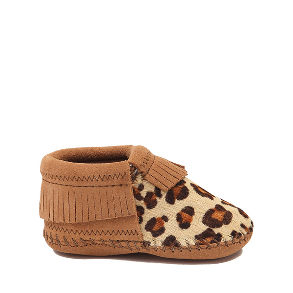 Minnetonka Riley Leopard Bootie - Baby / Toddler - Tan / Leopard