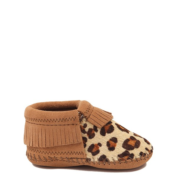 Main view of Minnetonka Riley Leopard Bootie - Baby / Toddler - Tan / Leopard