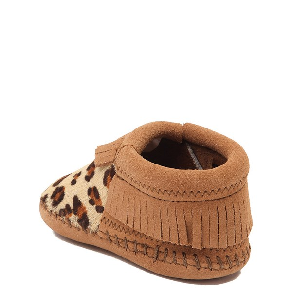 alternate view Minnetonka Riley Leopard Bootie - Baby / Toddler - Tan / LeopardALT2