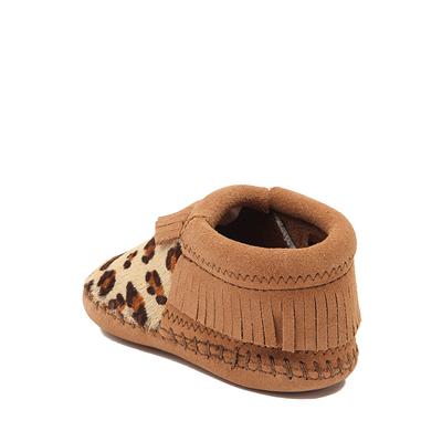 Alternate view of Minnetonka Riley Leopard Bootie - Baby / Toddler - Tan / Leopard