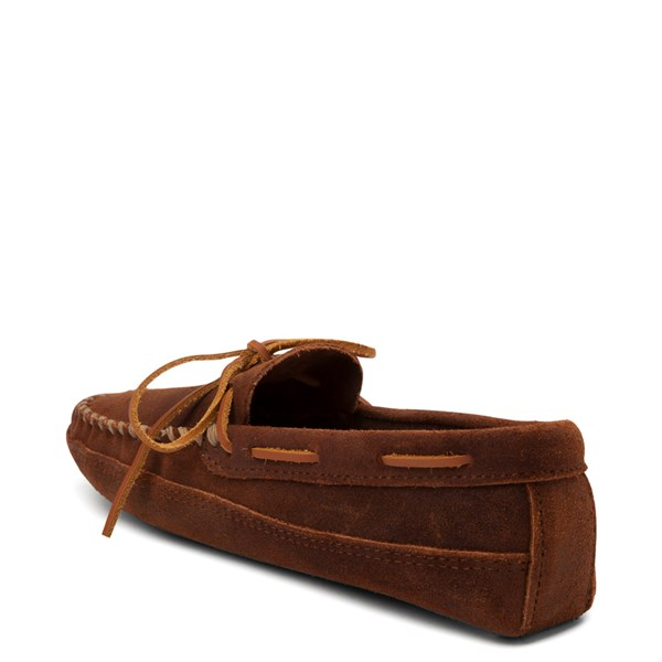 alternate view Mens Minnetonka Double Bottom Softsole Slipper - BrownALT2