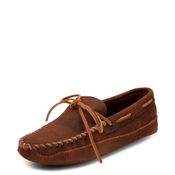 alternate view Mens Minnetonka Double Bottom Softsole Slipper - BrownALT3