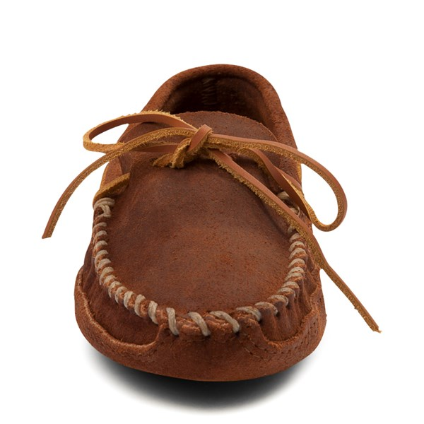 alternate view Mens Minnetonka Double Bottom Softsole Slipper - BrownALT4