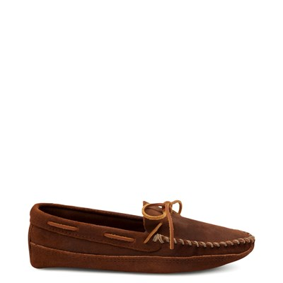Main view of Mens Minnetonka Double Bottom Softsole Slipper - Brown
