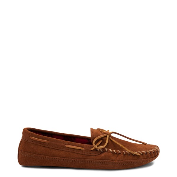 Main view of Mens Minnetonka Double Bottom Fleece Slipper - Brown