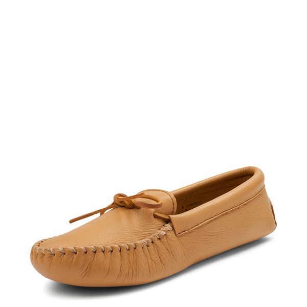 alternate view Mens Minnetonka Double Deerskin Softsole Slipper - NaturalALT3