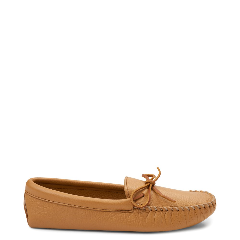 Mens Minnetonka Double Deerskin Softsole Slipper - Natural