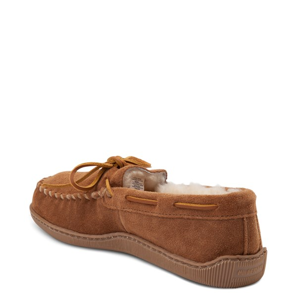 alternate view Mens Minnetonka Sheepskin Hardsole Moc Slipper - TanALT2