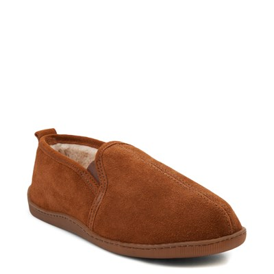 Alternate view of Mens Minnetonka Romeo Slipper - Brown