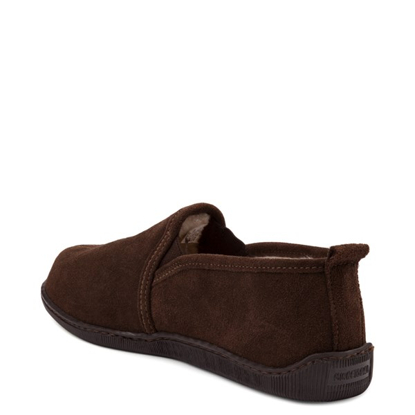 alternate view Mens Minnetonka Romeo Slipper - ChocolateALT2