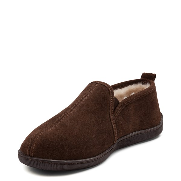 alternate view Mens Minnetonka Romeo Slipper - ChocolateALT3