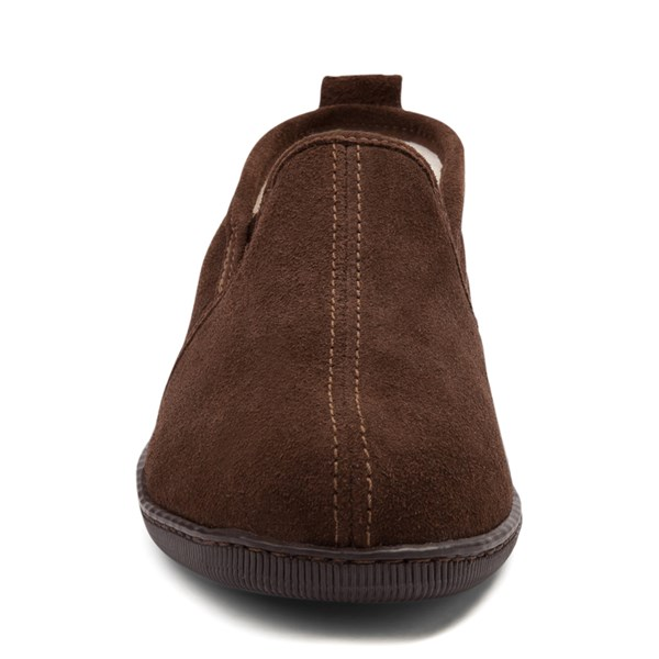 alternate view Mens Minnetonka Romeo Slipper - ChocolateALT4