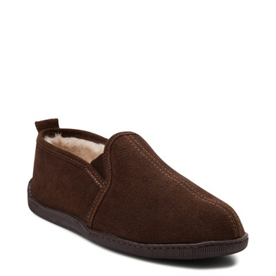 Alternate view of Mens Minnetonka Romeo Slipper - Chocolate