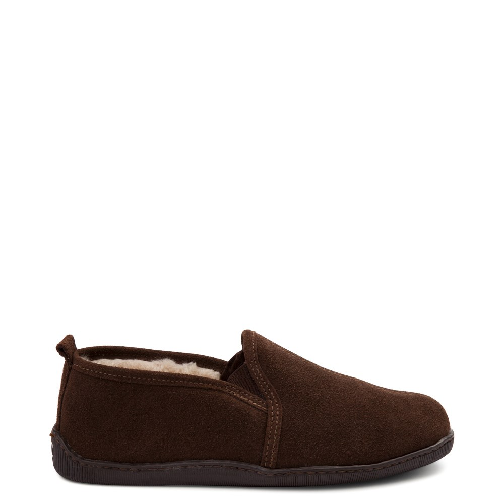 Mens Minnetonka Romeo Slipper - Chocolate