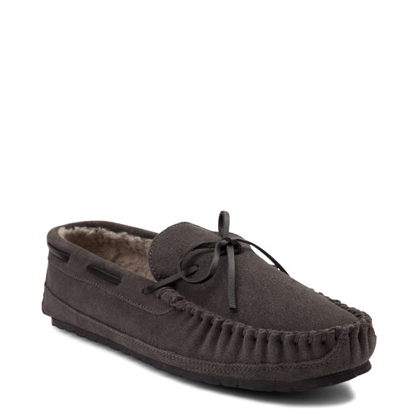 alternate view Mens Minnetonka Casey Slipper - CharcoalALT1