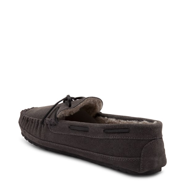 alternate view Mens Minnetonka Casey Slipper - CharcoalALT2