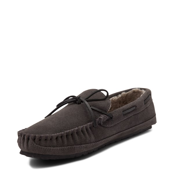 alternate view Mens Minnetonka Casey Slipper - CharcoalALT3