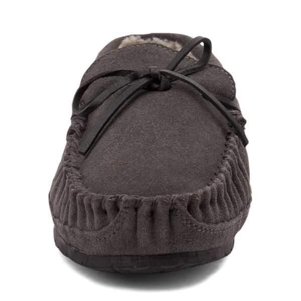 alternate view Mens Minnetonka Casey Slipper - CharcoalALT4