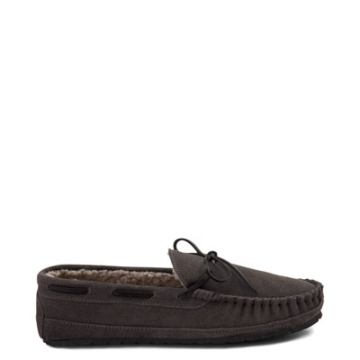Main view of Mens Minnetonka Casey Slipper - Charcoal