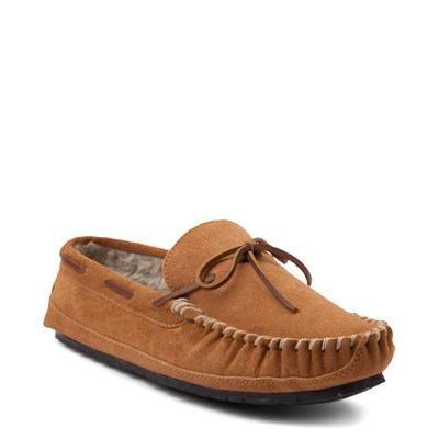 Alternate view of Mens Minnetonka Casey Slipper - Cinnamon