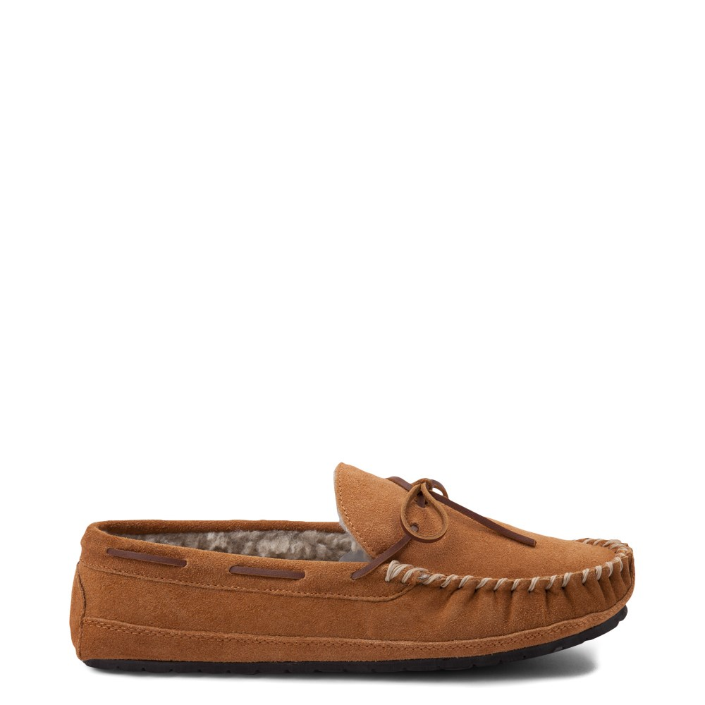 Mens Minnetonka Casey Slipper - Cinnamon