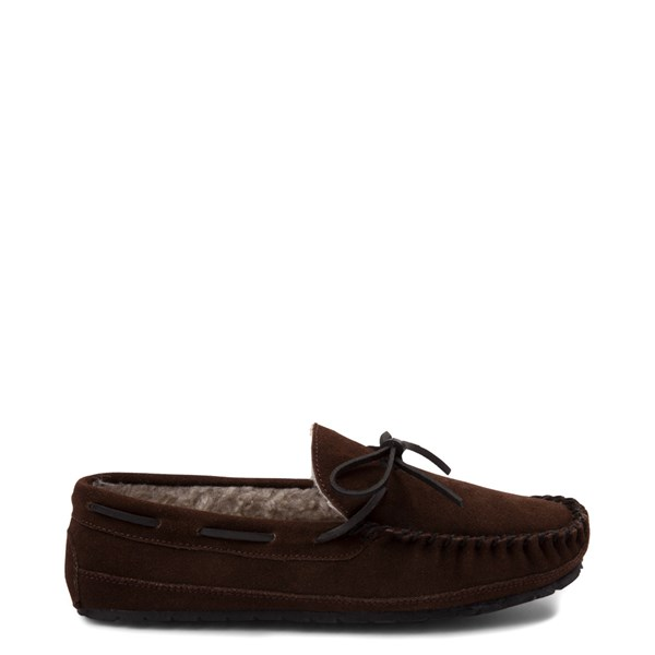 Mens Minnetonka Casey Slipper - Chocolate