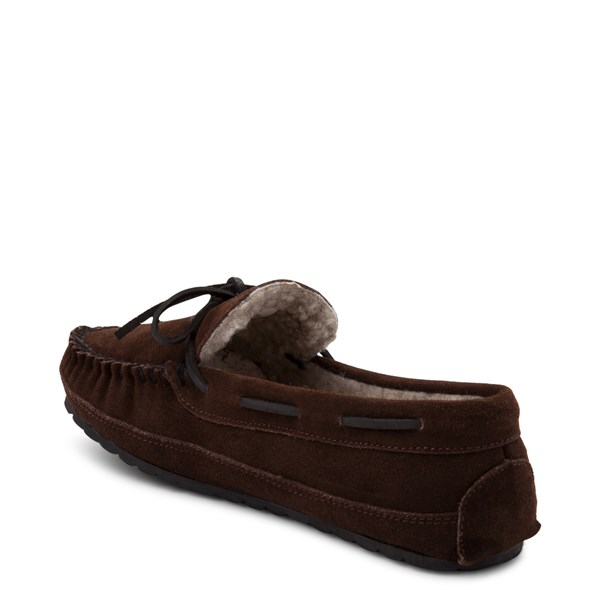 alternate view Mens Minnetonka Casey Slipper - ChocolateALT2
