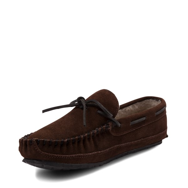 alternate view Mens Minnetonka Casey Slipper - ChocolateALT3